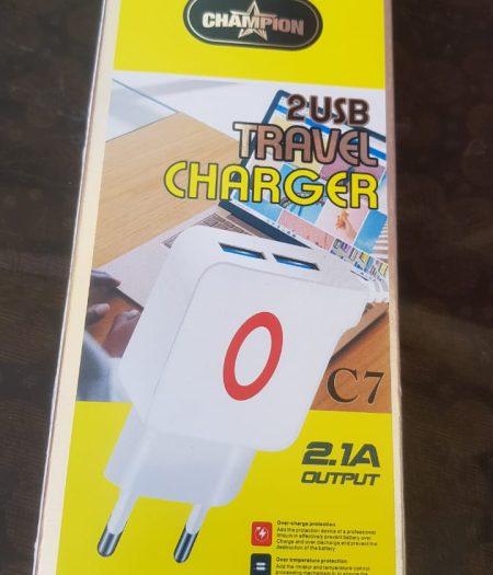 Champion 2USB Ports Travel Charger 1