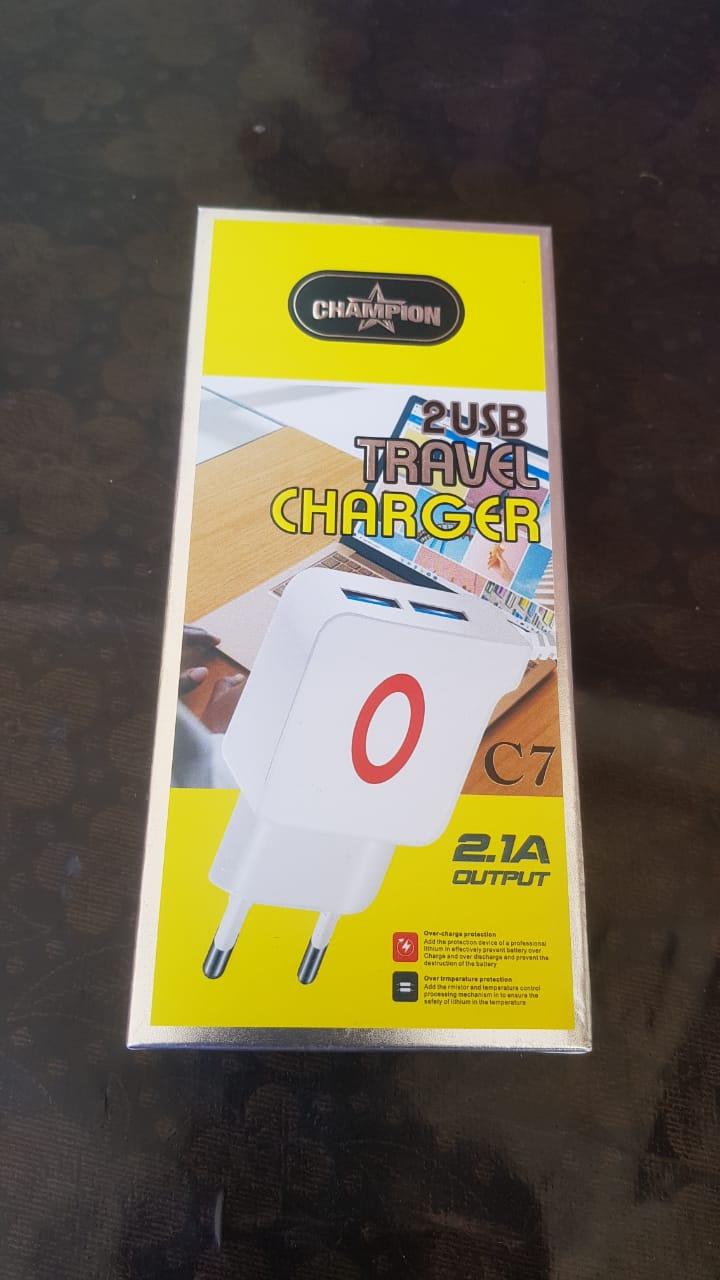 Champion 2USB Ports Travel Charger 2