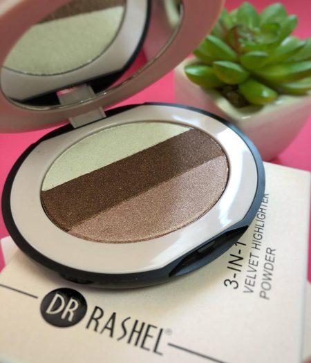 Dr. Rashel Ladies 3 In 1 Velvet Highlighter Powder for Girls & Women - Smoked Rose