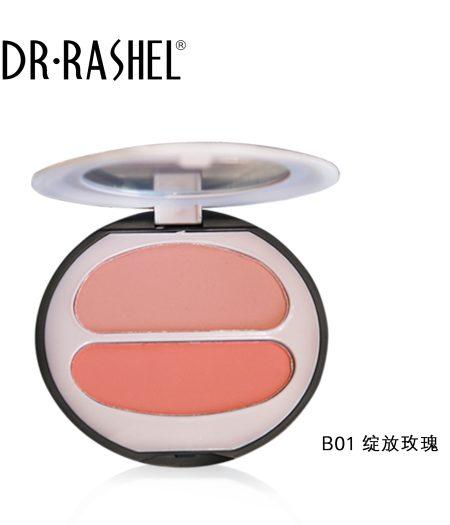 Dr. Rashel Ladies Long Wearing Velvet Touch Blush Duo for Girls & Women - Blooming Rose