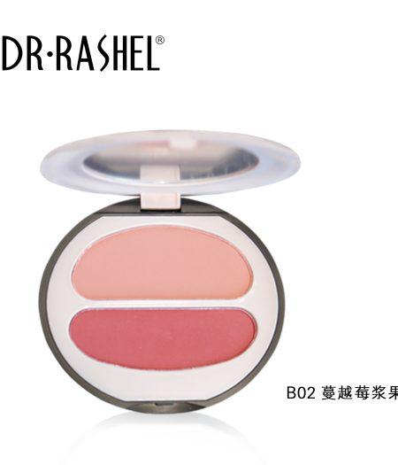Dr. Rashel Ladies Long Wearing Velvet Touch Blush Duo for Girls & Women - Cranberry Berry