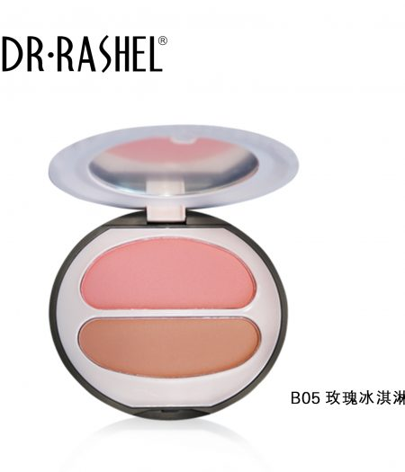Dr. Rashel Ladies Long Wearing Velvet Touch Blush Duo for Girls & Women - Rose Ice Cream