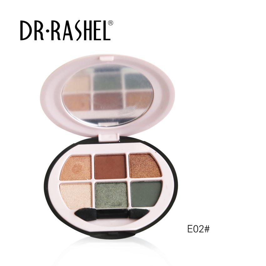 Dr. Rashel Ladies 6 in 1 Velvet Touch Eye Shadow for Girls & Women - The Rebel