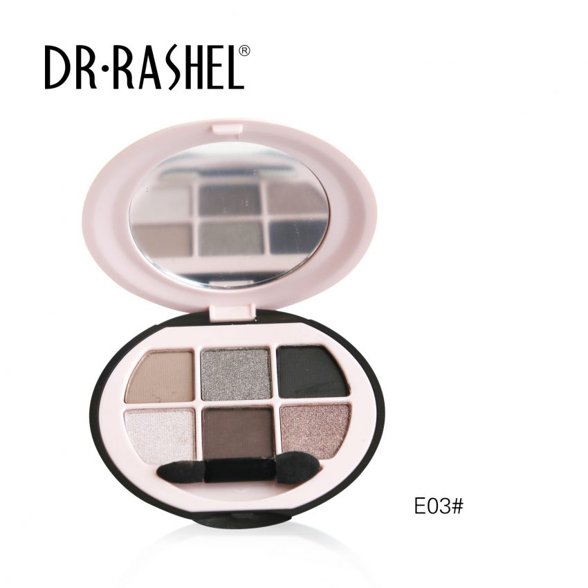 Dr. Rashel Ladies 6 in 1 Velvet Touch Eye Shadow for Girls & Women - The Rock Chick