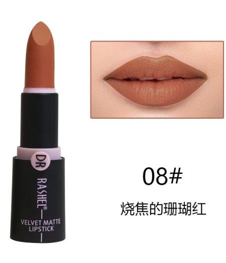 Dr. Rashel Velvet Matte Lipstick for Ladies - 08