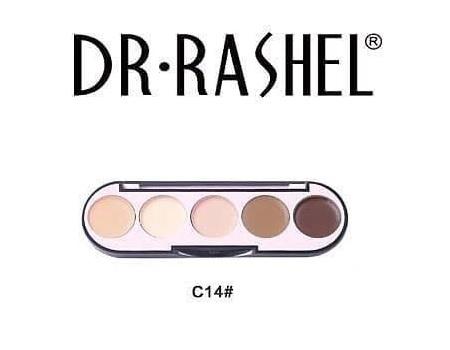 Dr. Rashel 5 Colors Highlight & Contour Palette For Ladies - C14