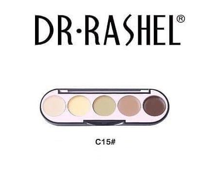 Dr. Rashel 5 Colors Highlight & Contour Palette For Ladies - C15