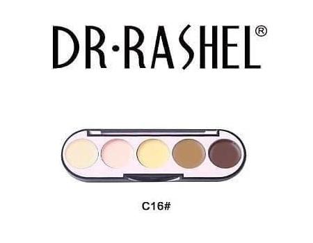 Dr. Rashel 5 Colors Highlight & Contour Palette For Ladies - C16