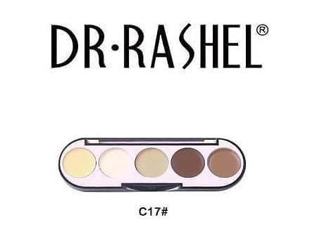 Dr. Rashel 5 Colors Highlight & Contour Palette For Ladies - C17