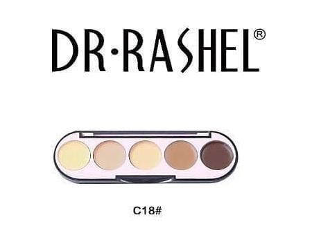 Dr. Rashel 5 Colors Highlight & Contour Palette For Ladies - C18