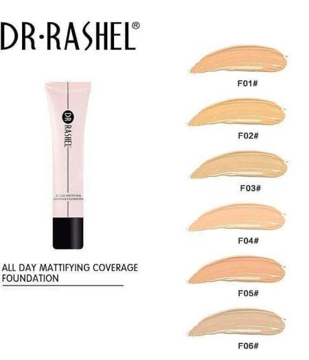 Dr. Rashel All Day Mattifying Coverage Foundation For Ladies - F01 2