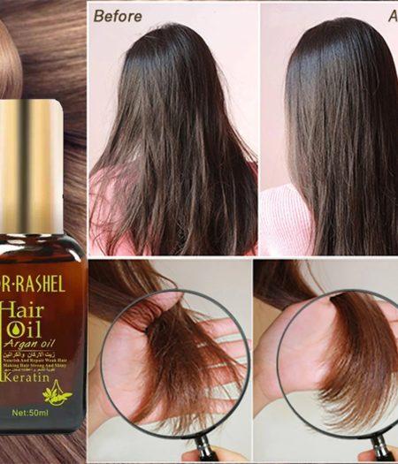 Dr. Rashel Hair Oil 2 in 1 Argan Oil with Keratin - 3