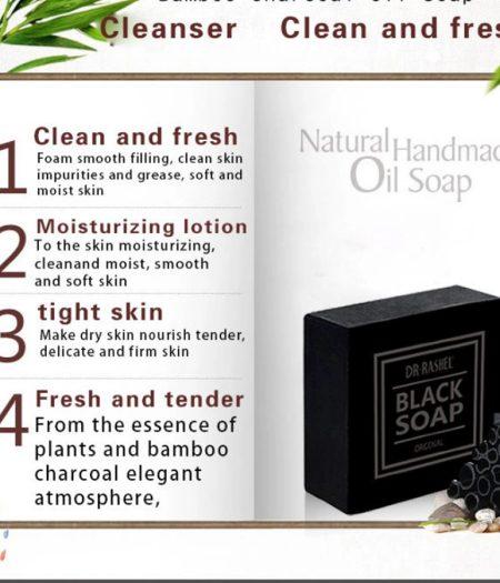 Dr. Rashel Charcoal Black Soap Oil Control Acne Tighten Pure Whitening Soap - 2