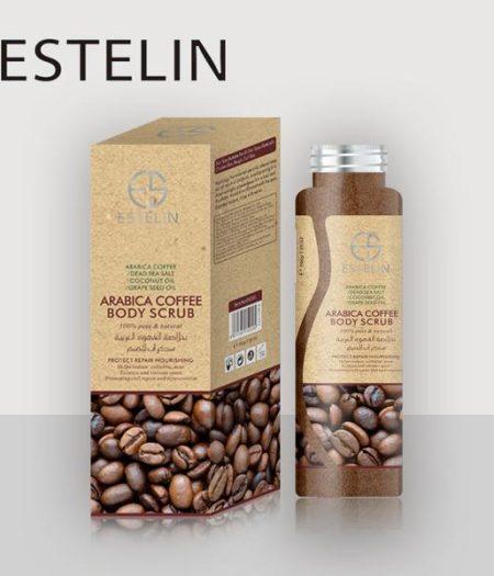 Estelin Skin Care Arabica Coffee Natural Body Scrub 1