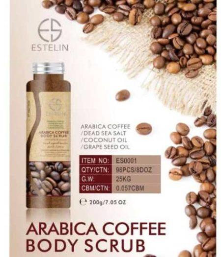 Estelin Skin Care Arabica Coffee Natural Body Scrub 3