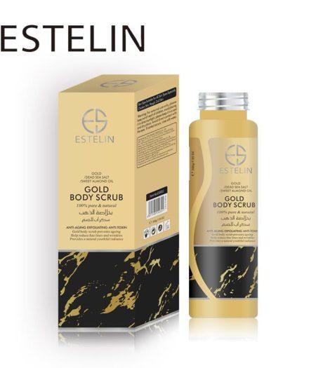 Estelin Skin Care Gold Natural Body Scrub 1