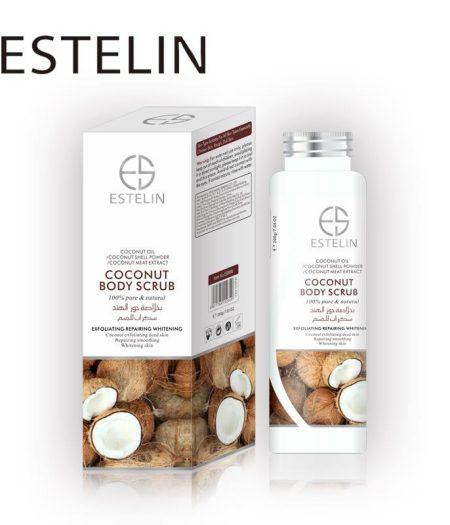 Estelin Skin Care Coconut Body Scrub 1