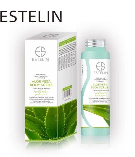 Estelin Skin Care Aloe Vera Vitamin E Body Scrub 1