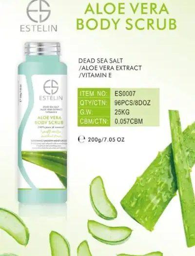Estelin Skin Care Aloe Vera Vitamin E Body Scrub 4