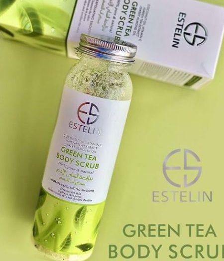 Estelin Skin Care Green Tea Body Scrub 1