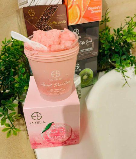 Estelin Apricot & Peach Whitening Face & Body Scrub 280g
