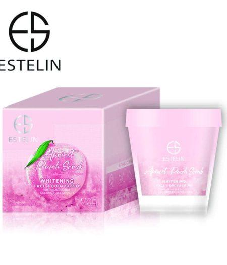 Estelin Apricot & Peach Whitening Face & Body Scrub 280g 3