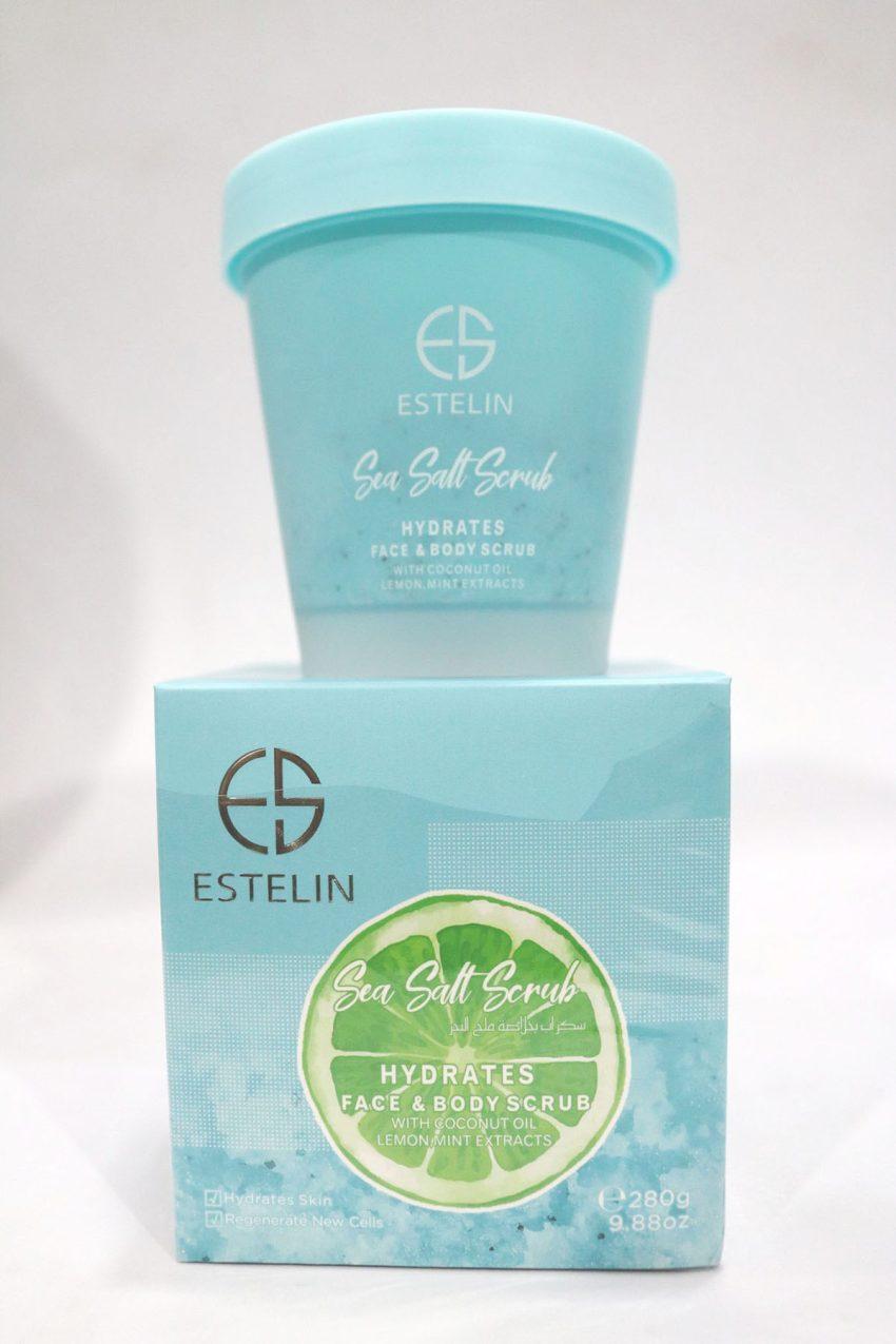 Estelin Sea Salt Scrub Hydrates Face & Body Scrub 280g 2