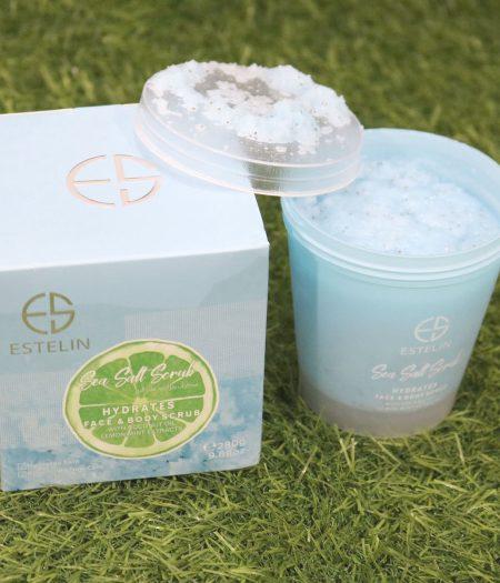 Estelin Sea Salt Scrub Hydrates Face & Body Scrub 280g