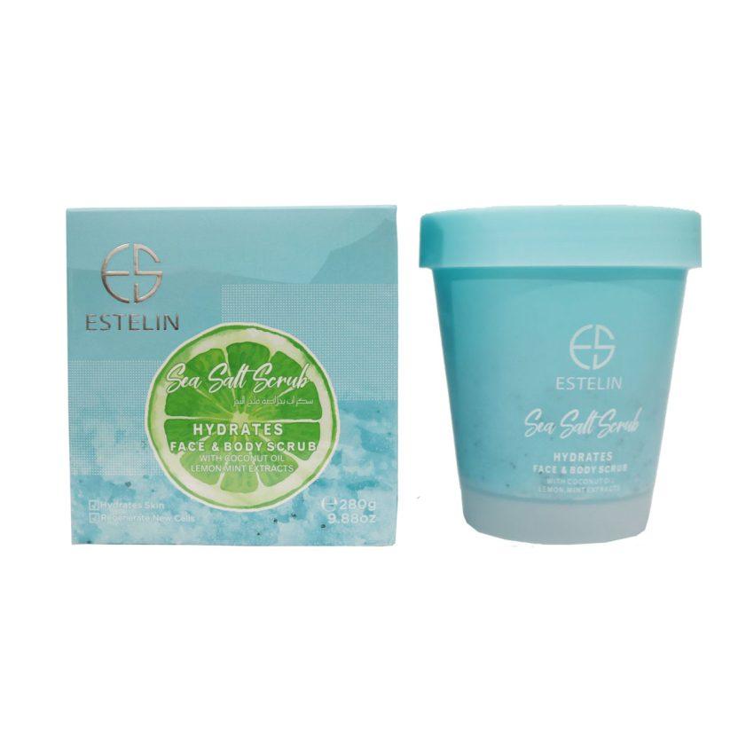 Estelin Sea Salt Scrub Hydrates Face & Body Scrub 280g 1