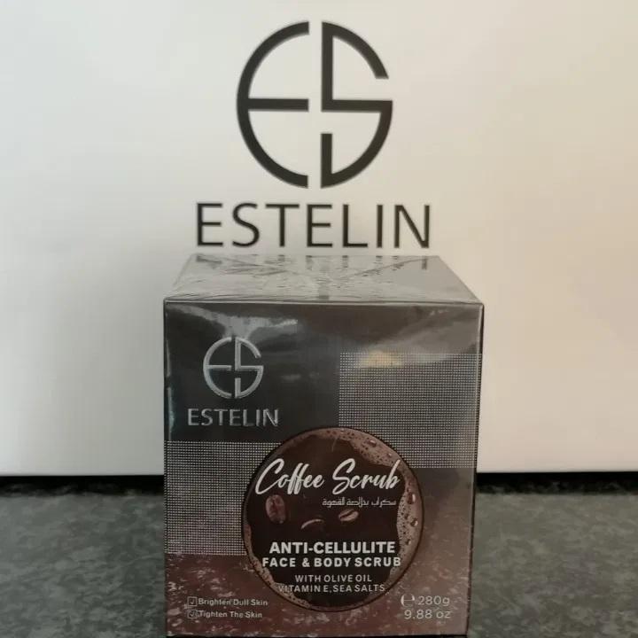 Estelin Coffee Body And Facial Scrub With Olive Oil And Vitamin E 280g 1
