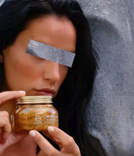 Estelin Firming & Anti Wrinkle 24K Gold Body & Face Scrub 250g