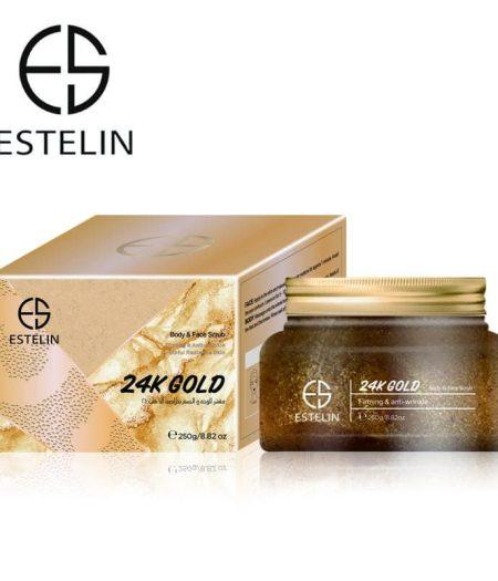 Estelin Firming & Anti Wrinkle 24K Gold Body & Face Scrub 250g 1