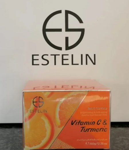 Estelin Vitamin C and Tumeric Face and Body Scrub 350g 1