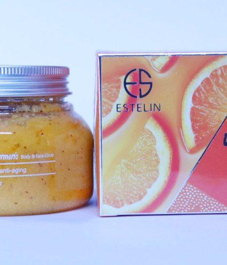 Estelin Vitamin C and Tumeric Face and Body Scrub 350g 2