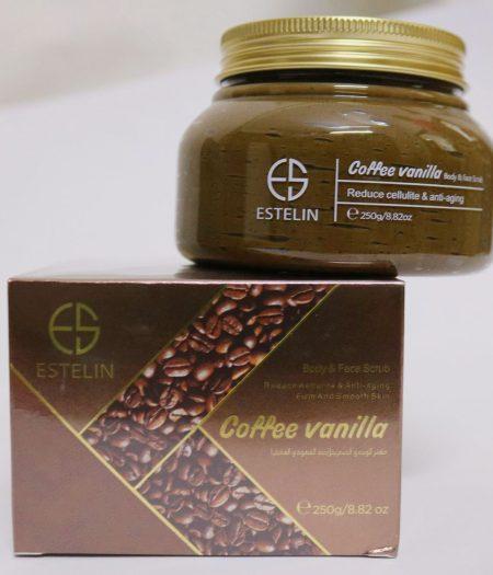 Estelin Coffee Vanilla Ani Aging Firm and Smooth Skin Body & Face Scrub 250g