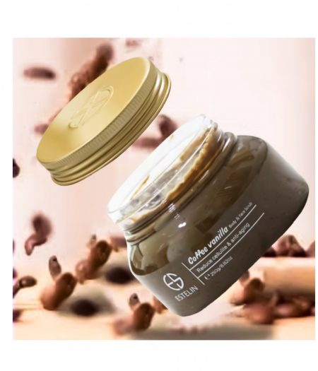 Estelin Coffee Vanilla Ani Aging Firm and Smooth Skin Body & Face Scrub 250g 1