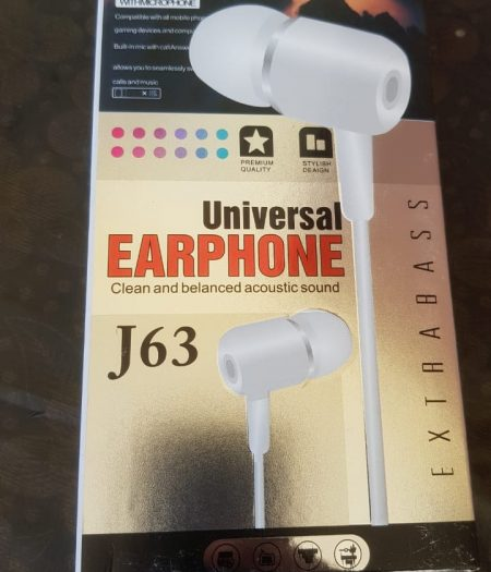 J-Cell Universal EarPhone Hand Free Extra Base