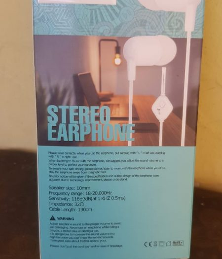 Stereo Ear Phone Super Bass Hand Free Cable - 1