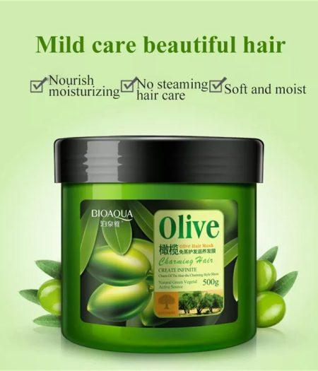 BIOAQUA Olive Oil Repair Hair Mask for Dry & Damaged Hair 500g -1