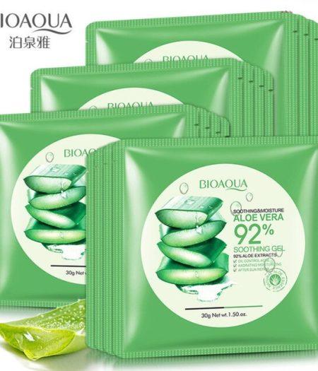BIOAQUA Natural Aloe Vera Gel Face Mask 30g x 5 2
