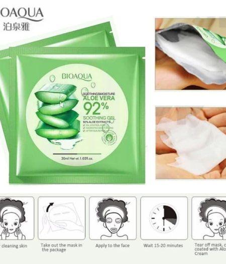 BIOAQUA Natural Aloe Vera Gel Face Mask 30g x 5 3