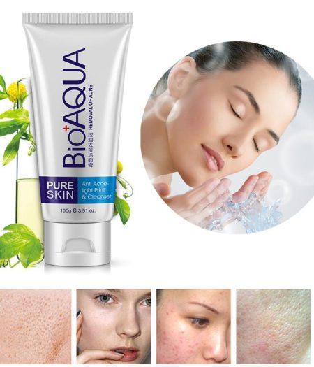 BIOAQUA Face Wash Cleaning Cream Anti Acne Cleanser 100g