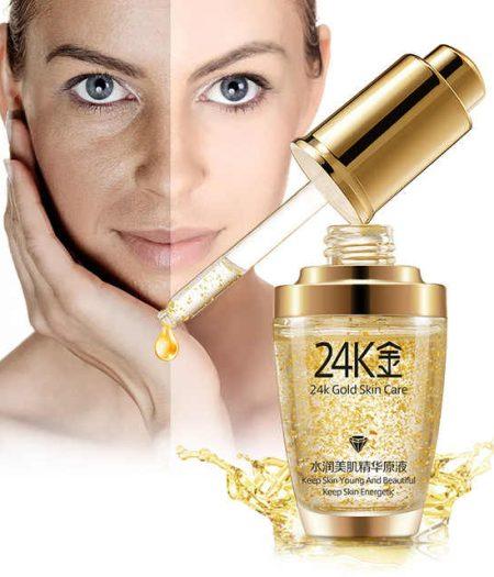 BIOAQUA 24K Gold Essence Serum For Women Face Skin Care Anti Aging 30ml