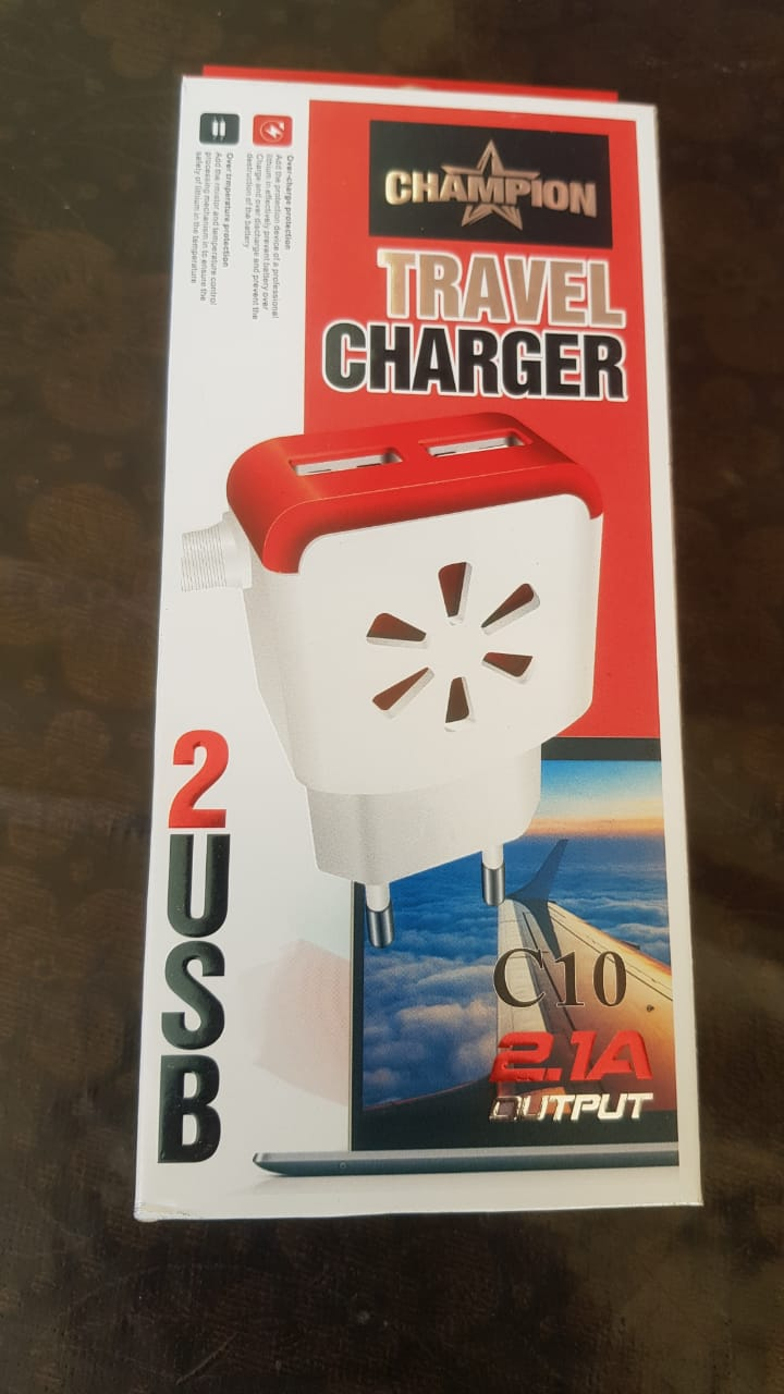 Champion Mobile Phone 2 USB Charger 3