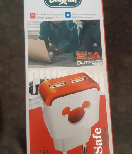 Champion Mobile Phone 2 USB Charger 1