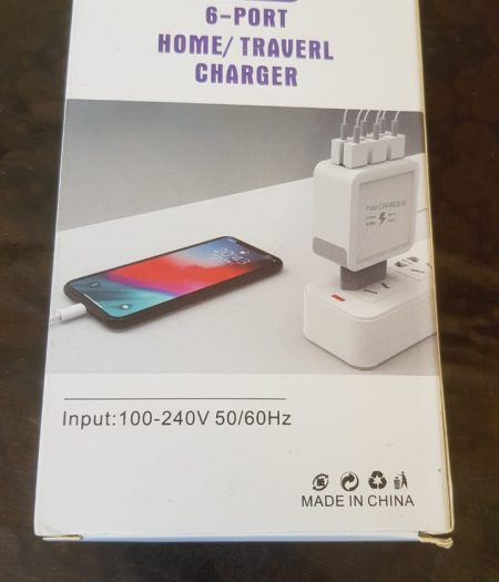 Fast Charger 9.1 Ampere Fast Mobile Charger With 6 USB Ports