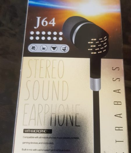 J-Cell Stereo Sound Ear Phone Hands Free Extra Bass