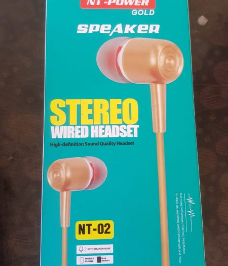 NT Power Gold Speaker Stereo Wired HandsFree 1