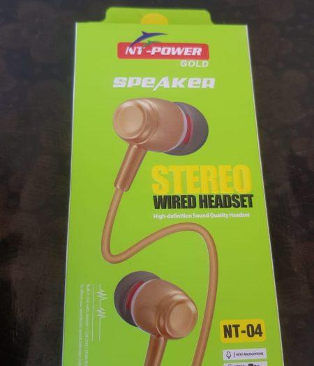 NT Power Gold Speaker Stereo Wired HandFree 1