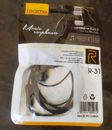 RealMe Buds HandFree Stereo Earphones with Mic 2